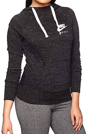 24977f7af910 Nike Womens Vintage Hoodie 726059 M Heather Black 010 for sale online