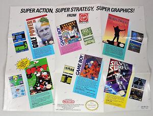 VINTAGE-VIRGIN-GAMES-POSTER-INSERT-VIR-NES-US-1-NINTENDO-NES-i005-1991