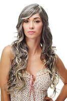 Wig Black Blonde Mix Curles Wavy Long Side Part 70 Cm 9204s-1t228