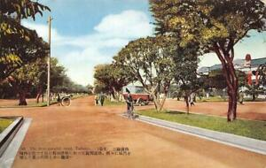 Three-parallel-road-Taihoku-Taiwan-Formosa-China-c1930s-Vintage-Postcard