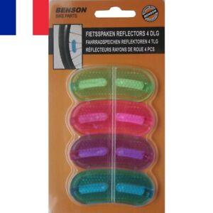 4 X Réflecteurs Catadioptres Sécurité de Roues Vélo VTT VTC Rayons Multicolores