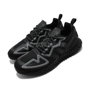 adidas-Originals-ZX-2K-4D-Black-Grey-Men-Running-Shoes-Sneakers-Trainers-FZ3561