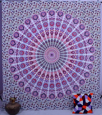 Indian Mandala Tapestry Wall Hanging Queen Bedspread Throw Bohemian Dorm Decor