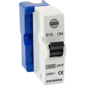 WYLEX empuje Reja de desminado Interruptor Ensamblaje Blanco 6a Azul 16a Rojo 32a Amp B32
