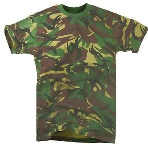 BOYS CAMOUFLAGE COTTON T-SHIRT Kids all sizes military soldier top ... 7b4eb3ed2ffe