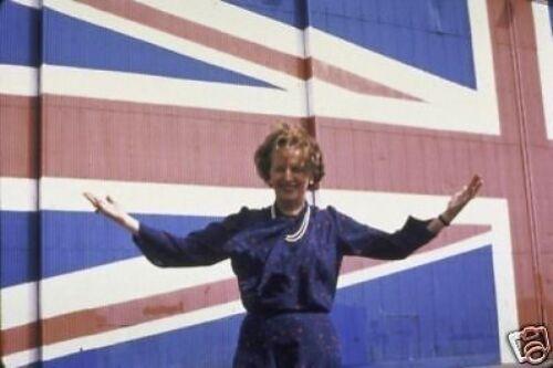 Margaret Thatcher Prime Minister Union Jack 10x8 Photo