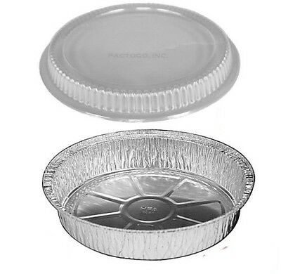 10 Inch Round Disposable Aluminum Foil Pan 2 Pack