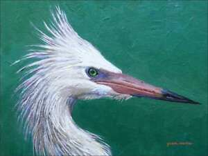 Egret-Art-Accent-amp-Decor-Tile-White-Wildlife-Bird-Ceramic-Backsplash-JWA034AT