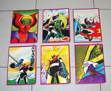 Serie completa 6 Quaderni MAZINGA Z Mondadori 1979 NUOVI Goldrake Toei Copybooks