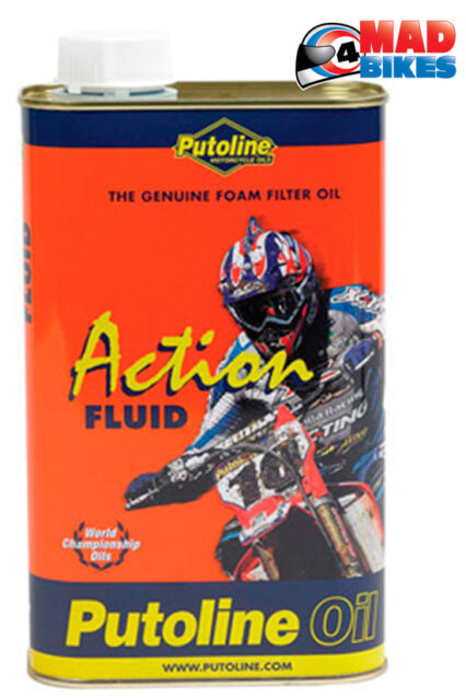Putoline Foam Air Filter Oil Action Fluid, Motorcross MX Enduro Trials Quad 1 L