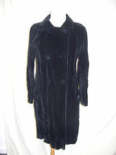 Ladies Coat Jigsaw black velvet UK 12, theatre, special event, unusual 2028