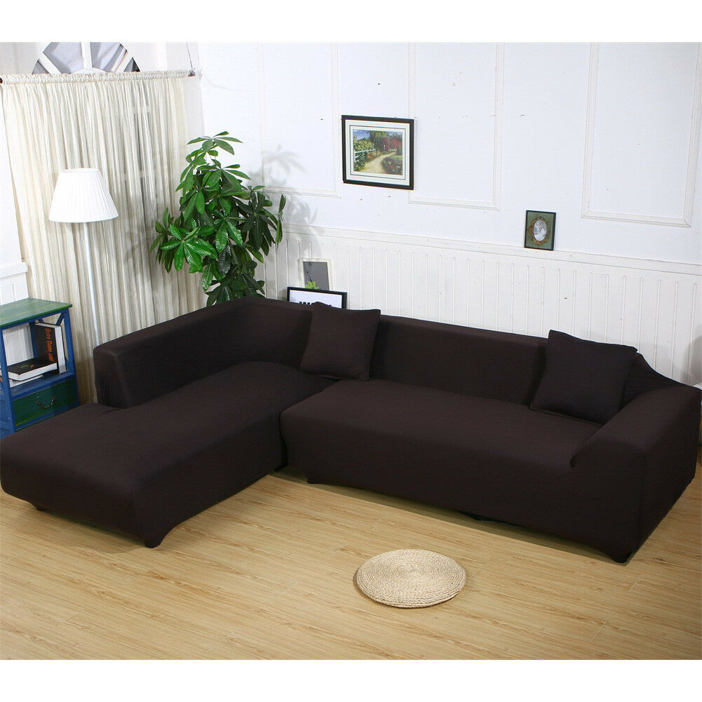 Stretch Fabric Sofa Slipcover Elastic Sectional Furniture Co