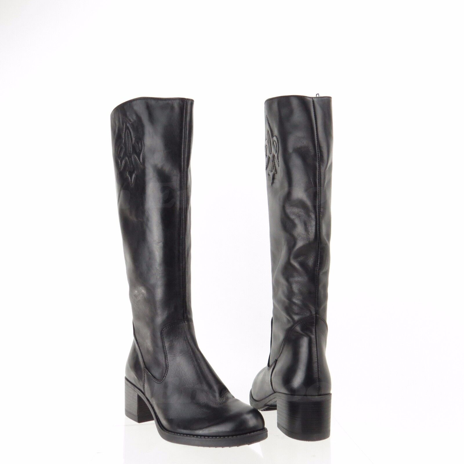 Summit Calverton Women's Shoes Black Leather Knee High Boots Sz NEW!