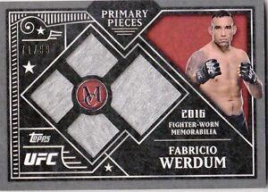 2016-TOPPS-UFC-MUSEUM-COLLECTION-PRIMARY-PIECES-CARD-PPQ-FW-FABRICIO-WERDUM-99