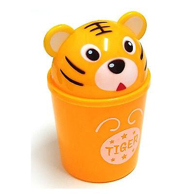 Cute Tiger Small Dustbin  Animal Character Wastebasket Garbage Trash bin