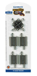 Bachmann-No-44541-E-Z-Track-System-90-Degree-Crossing-NEW-in-PACKAGING-g
