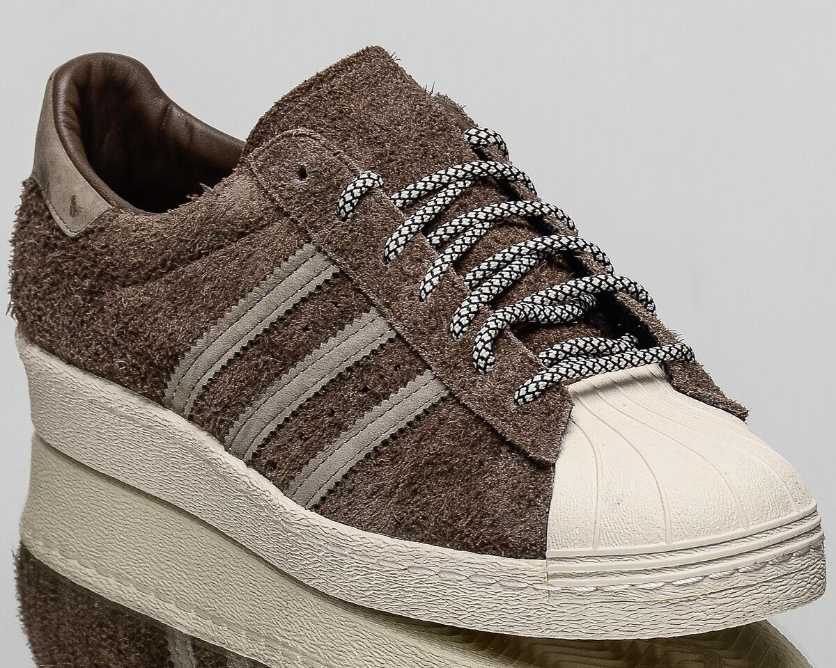 Adidas Originals Superstar 80s Uomo lifestyle casual scarpe da ginnastica NEW brown S75848