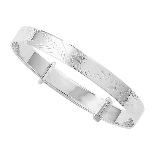 New Kids / Babies 6mm Silver Expanding Christening Bangle Childrens Jewellery