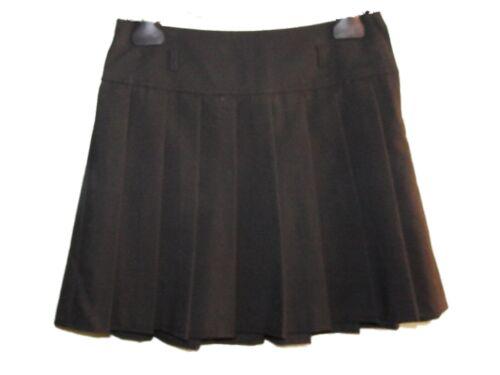 Neuf Filles Ex Store Noir Plissé réglable à la taille École Jupe Âge 8-9 ans AAA17