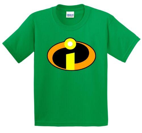 Il GLI INCREDIBILI Super Eroe T Shirt per Bambini Taglia 3-15