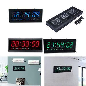 New Digital LED Wall Clock Home Desk Decor Calendar Temperature