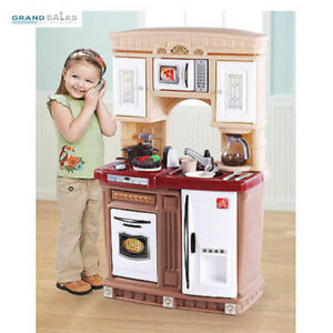 Details about Kids Pretend Kitchen Play Set Girls Boys Toddlers Toys  Cooking Station Playset