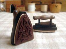 Vintage Iron Merci Thank You Wooden Rubber Stamp Kawaii Wedding Stationery