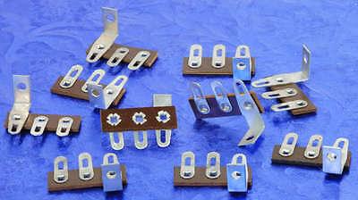 Ten Three Lug Brown Terminal Strips With Ground Lug Base For Electronics N.O.S.