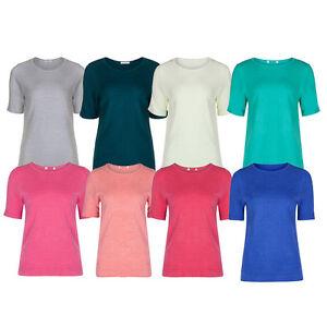 Marks-amp-Spencer-Womens-Cashmilon-Soft-Knit-Short-Sleeve-M-amp-S-Jumper-Sweater-Top