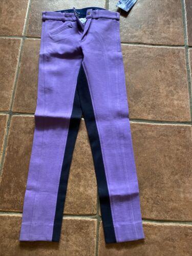 "Legacy Lifestyle Junior Horse Pony Riding Jodhpurs Purple Blue 28""  NWT"
