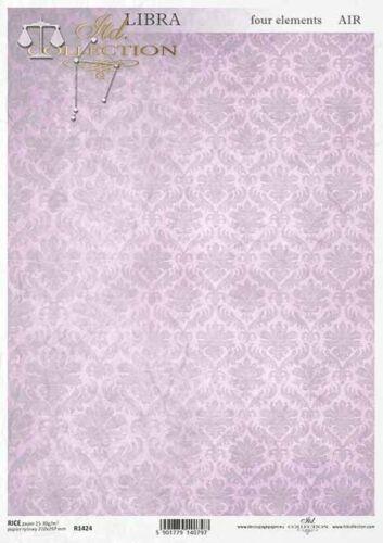 Reispapier-Motiv Strohseide-Decoupage-Serviettentechnik-Vintage-Shabby-R1424