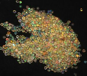 3-MM-25-pieces-NATURAL-ETHIOPIAN-FIRE-OPAL-CABOCHON-039-S-CALIBRATED-PLAY-COLOR