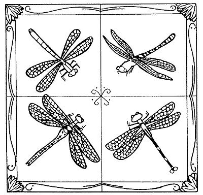Unmounted Rubber Stamps, Dragonflies, Nature Stamps, Dragonfly Collage Frame