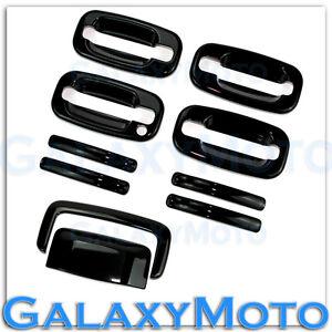 99-06 Chevy Silverado Gloss Shiny Black 4 Door Handle W//O PSG KH Cover