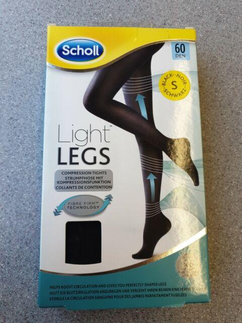 Small//Medium//Large//XL Scholl Light Legs Compression Tights 60 Den Black