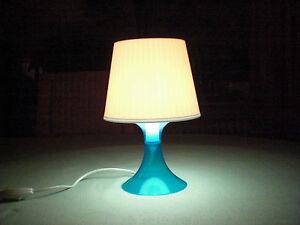 ikea lampan nachttischleuchte blau wei retro lampe tisch leuchte nachtlicht ebay. Black Bedroom Furniture Sets. Home Design Ideas