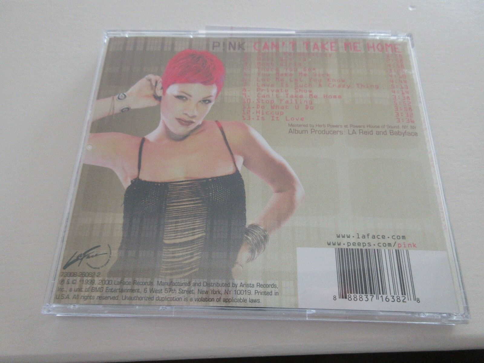 PINK , Can't Take Me Home , CD 888837163828