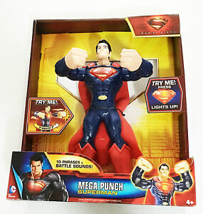 Superman-Man-of-Steel-Mega-Punch-Action-Figure-Ages-4-Mattel-New-Toy-Boys-Girls