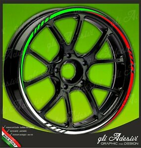 Adhesive-Strips-Wheel-Rim-Motorcycle-BMW-Tricolour-Green-White-and-Red-Mod-3
