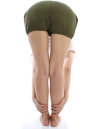 RTBU Iyengar Yoga Dance Ballet Practice Pilates Cotton Bloomer Shorts Military