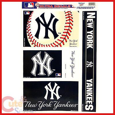 Fanartikel 4 Logos Gut Ausgebildete Mlb Ny Yankees Auto Fenster Aufkleber Aufkleber 11x17