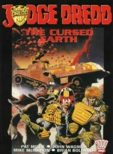 "2000AD ft JUDGE DREDD in ""THE CURDED EARTH"" GRAPHIC NOVEL - EXCELLENT CONDITION"