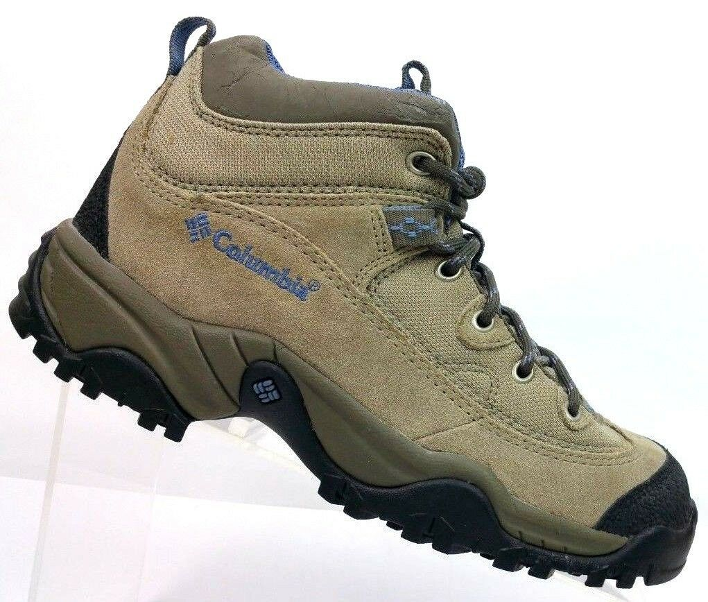 Columbia Trail Meister Mid Tan Leather Hiking shoes Omni Grip Women's 7