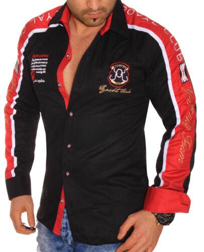 Manica Lunga Uomo Uomini Camicia Camicie Slim Fit Club Yachting Polo MEN SLIM-FIT NUOVO