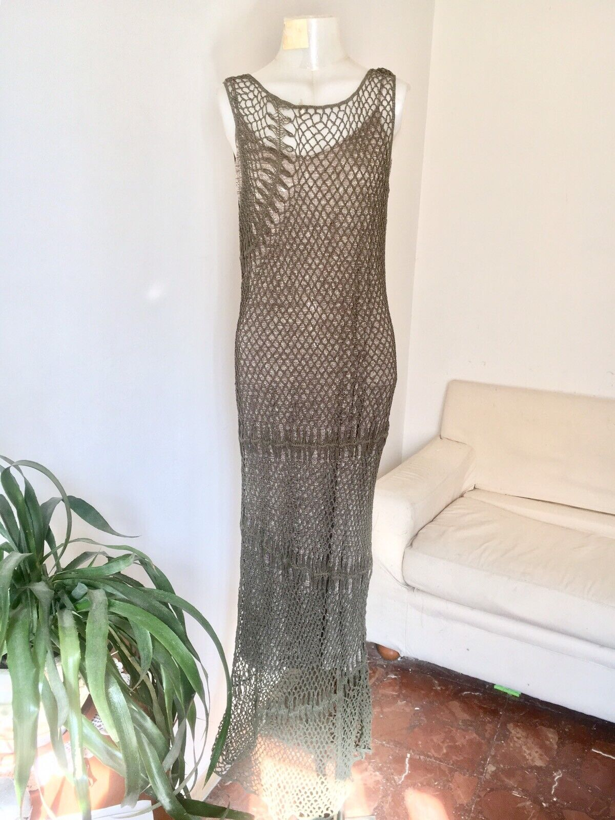 Marina Rinaldi (MaxMara Group) Rope Knitted Long Dress