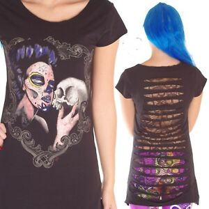 JAWBREAKER-GIRL-HOLDING-SKULL-LONG-T-SHIRT-DRESS-TOP-GOTHIC-ALTERNATIVE-EMO