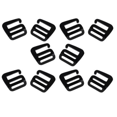 5 Pair 1inch G Hook Outdoor Webbing Buckle for Backpack Strap 25mm Black
