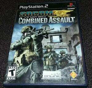 SOCOM-U-S-Navy-SEALs-Combined-Assault-Playstation-2-PS2-Game-Complete