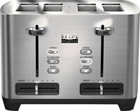 Bella Pro Series 4-Slice Wide/Self-Centering-Slot Toaster (Stainless Steel)