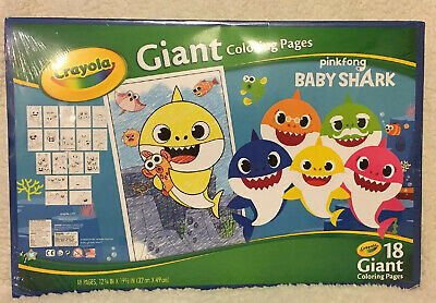 "Crayola Giant Coloring Pages 12.75""X19.5""-Baby Shark ..."